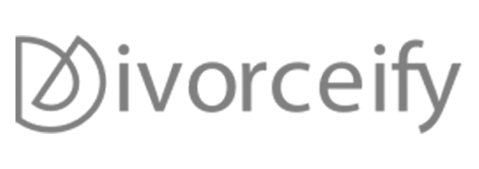 divorceify logo grayscale