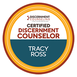 Tracy Ross, LCSW is Certified as a Discernment Counselor by the Doherty Relationship Institute.
